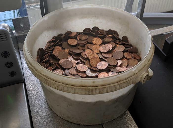 kleingeld behälter
