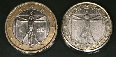 Gefälschte 2 Euro Münzen